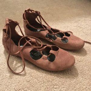Free People lace up flats